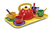 Набір посуду з підносом, 14 предм., в сетке 35*21см, ТМ Юніка, Україна(0286)