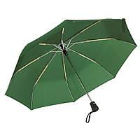 Зонт Bora складной, автомат, резиновая ручка , зеленый, от 10 шт.