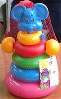 """Пирамидка-качалка """"Мышка"""", 27*13см, (18шт), ТМ M-toys(519018)"""