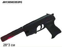 Пистолет с пульками, глушитель, лазер, утяжеленный пакет 28*3см(JH130503353PC/HK2023B+)