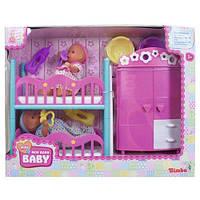 Куклы 2 функциональные пупса двухярусной кроваткой 5036610