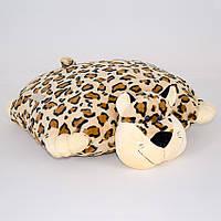 """Подушка-складушка 002 """"Леопард"""", 50*43см, ТМ Копиця, Украина(00235-27)"""