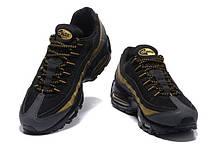 Женские кроссовки Nike Air Max 95 Black/Gold топ реплика, фото 2