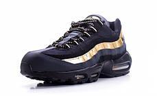 Женские кроссовки Nike Air Max 95 Black/Gold топ реплика, фото 3