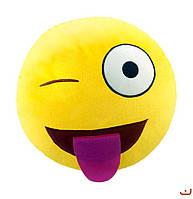 """Синтапоновая игрушка мягконабивная """"SOFT TOYS """"Смайлик"""" с языком, 30*30см(DT-ST-01-17)"""