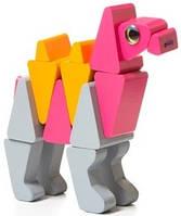 """Собака деревянная """"Верблюд"""", в кор. 13*11*8см, Украина, ТМ CUBIKA (Левеня)(11872)"""