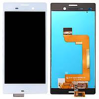 Дисплей (LCD) Sony E2303 Xperia M4 Aqua/ E2306/ E2312/ E2333/ E2353/ E2363 с сенсором белый