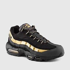 Женские кроссовки Nike Air Max 95 Black/Gold топ реплика