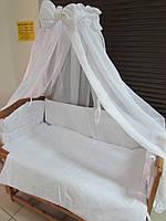 """Фирменный комплект постельного белья 9 предметов """"Сладкие сны"""" для мальчиков и девочек. Белый"""