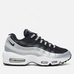 Женские кроссовки Nike Air Max 95 Black/Silver топ реплика