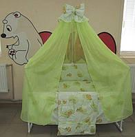 """Фирменный комплект постельного белья 9 предметов """"Love Baby"""" для девочек"""