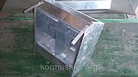 Бункерная кормушка для кроликов 2 секции, фото 1