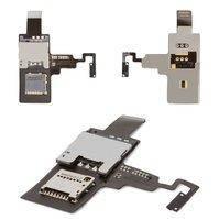 Коннектор SIM-карты для мобильного телефона HTC T328e Desire X, с кнопкой включения, с коннектором карты памяти, со шлейфом