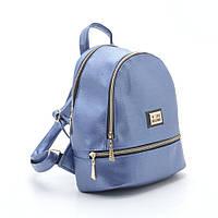 Стильная женский кожаный рюкзак Love Moschino светло синий