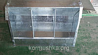 Бункерная кормушка для кроликов 3 секции, фото 1