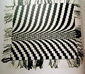 """Вязанный Плед """"Зебра"""" - ручной работы 120х135см, фото 2"""