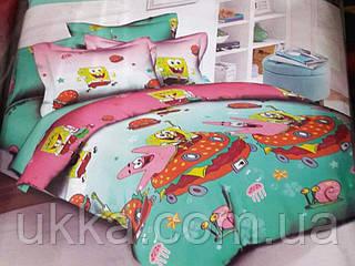 Детское постельное белье полуторное Губка Боб и Патрик комплект подростковый