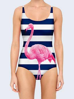 Женский купальник Розовый фламинго