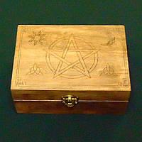 Шкатулка для карт таро Шкатулка  с магическими символами малая 140х100 мм