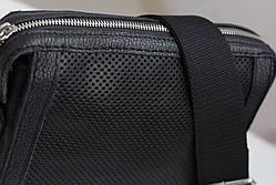 Мужская кожаная сумка из перфорированной кожи, фото 3