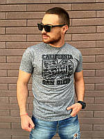 Мужская серая футболка CALIFORNIA 50  SAN DIEGO