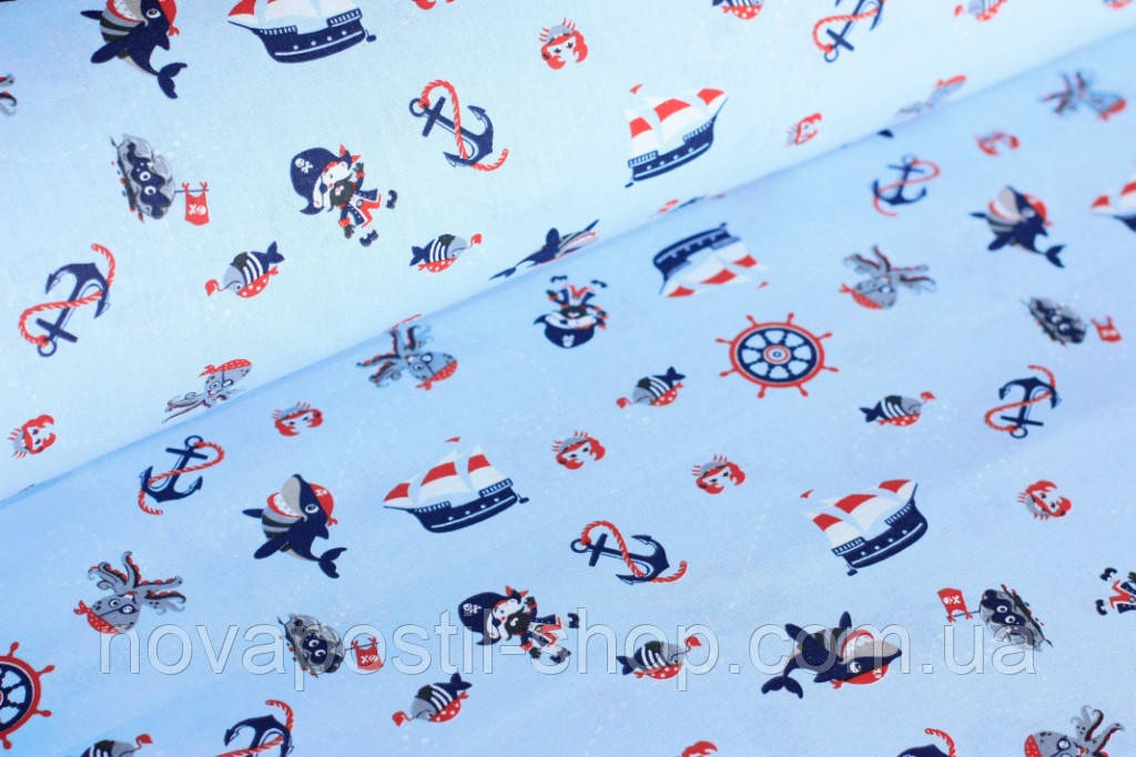 Детское постельное белье Пираты-Акулы (100% хлопок)