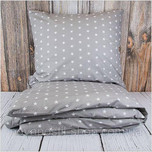 Комплект постельного белья Звезды Grey (ранфорс, 100% хлопок)