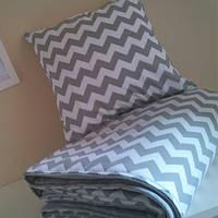Комплект постельного белья Зигзаг Grey (ранфорс, 100% хлопок), фото 1