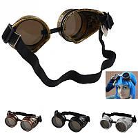 Очки под старину, викторианский стиль, стим-панк очки байкера