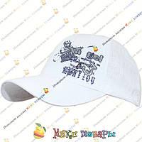 Детская светлая кепка для пацана (объём 52- 54 см) Один Цвет (vti850)
