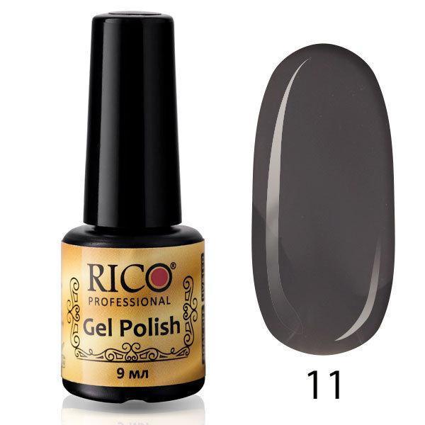 Гель-лак Rico Professional № 11, Серый, эмаль, 9 мл