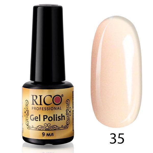 Гель-лак Rico Professional № 35, Светло-розовый с микроблеском, 9 мл
