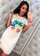 """Платье женское модное из коттона """"Цветок"""""""