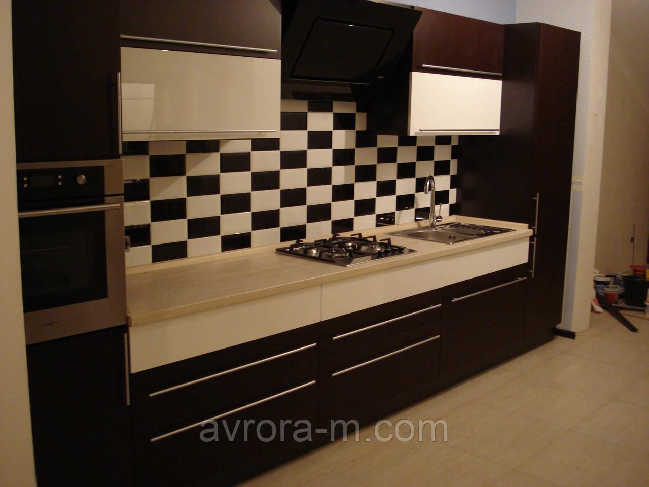 Кухни со шпонированными фасадами