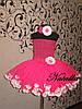 Юбка-платье ту-ту из фатина с лепестками и повязкой в розовом цвете, фото 4