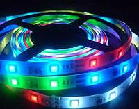 Лента разноцветная светодиодная 300 SMD5050 RGB 5 метров в Силиконе