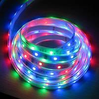 Лента разноцветная светодиодная 300 SMD5050 RGB 5 метров в Силиконе!Акция