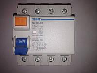 Устройство защитного отключения, УЗО ВДТ NL1-63 6kA 4P A 40A - 30mA (электромеханический)