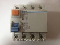Устройство защитного отключения, УЗО ВДТ NL1Е-63 6kA 3P+N A 40A - 30mA (электронный)