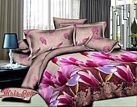 Комплект постельного белья 3D семейный, полиэстер. Постільна білизна. (арт.7063)