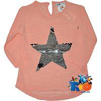 """Детская легкая блузка """"Silver Star"""" , трикотаж , 3/4 рукав , для девочек от 4-8 лет (4 ед. в уп.)"""