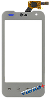 Тачскрин (сенсор) LG P990 Optimus 2X, P999 Optimus G2x ORIG, white (белый)