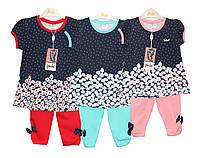Костюмы детские трикотажные на лето для девочки Pink 9067, фото 1
