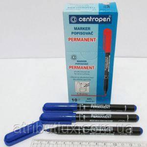 Маркер перманентный тонкий 2846 (1мм) синий