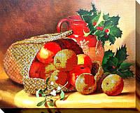 """Набор для вышивки бисером """"Корзина с яблоками"""""""