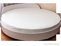 Наматрасник на круглую кровать хлопковый с боковиной диаметр 200см