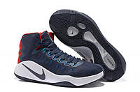 Мужские баскетбольные кроссовки Nike Zoom Hyperdunk 2016 Rio Olympics Navy Red Реплика