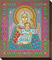 """Набор для вышивки бисером """"Икона Божьей матери Леушинская"""""""
