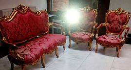 Комплект мягкой мебели из Европы барокко б/у 3+1+1