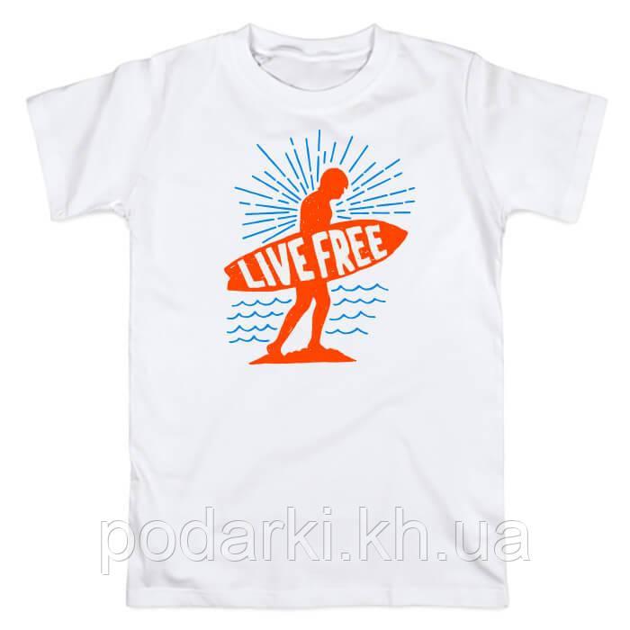 "Мужская футболка ""Живи свободно"""